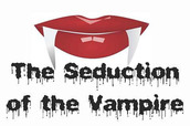 Graphic of a female vampire's red lips with two descending fangs. This is the logo for our Eng 2 class called,
