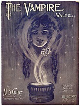"Photo of 1911 sheet music from ""The Vampire Waltz."