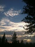 Photo of Truckee sky in the evening.