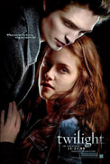 Picture of actors Robert Pattinson and Kristen Stewart from the film,